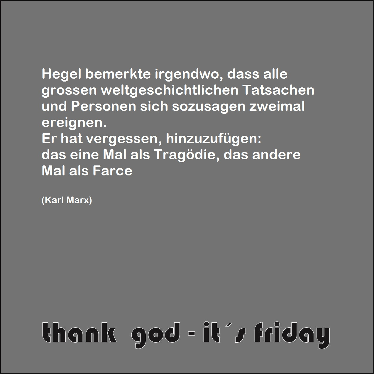 thank god - it´s friday