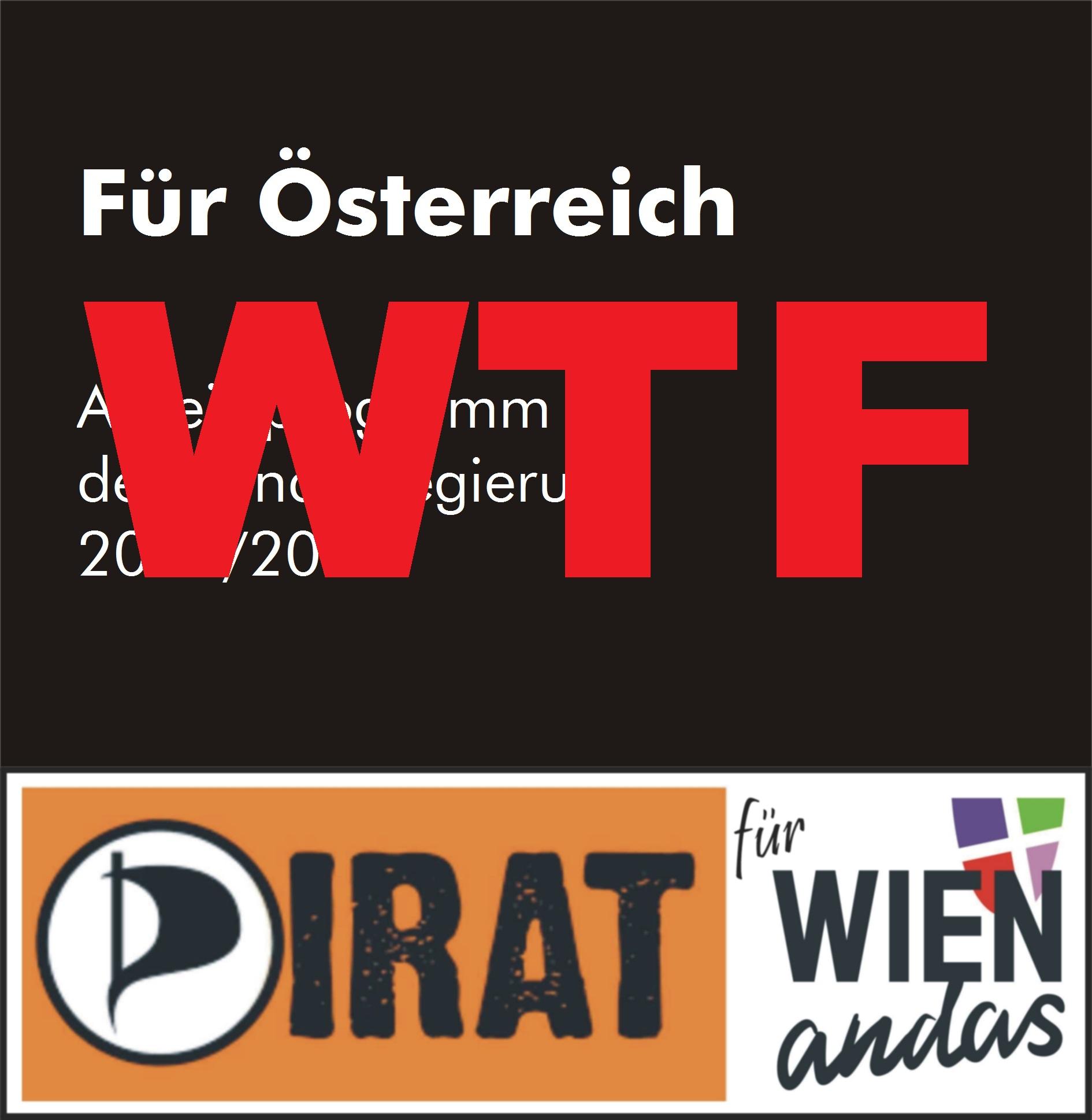 Für Österreich - Regierungsprogramm für 2017/2018 - a scho Wuascht!