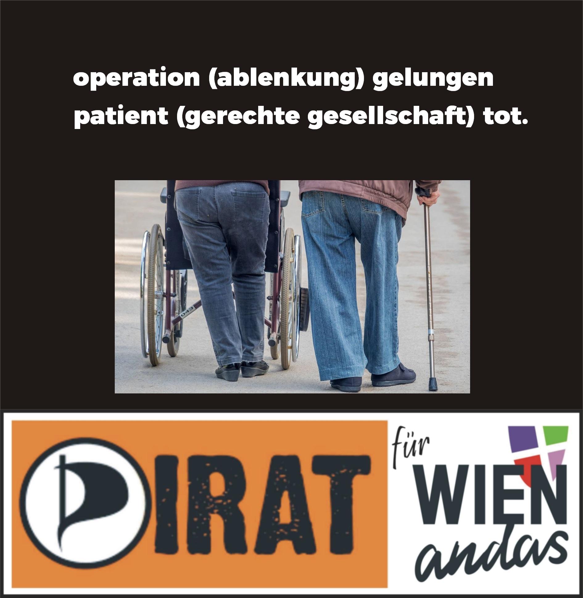 operation (ablenkung) gelungen – patient (gerechte gesellschaft) tot.