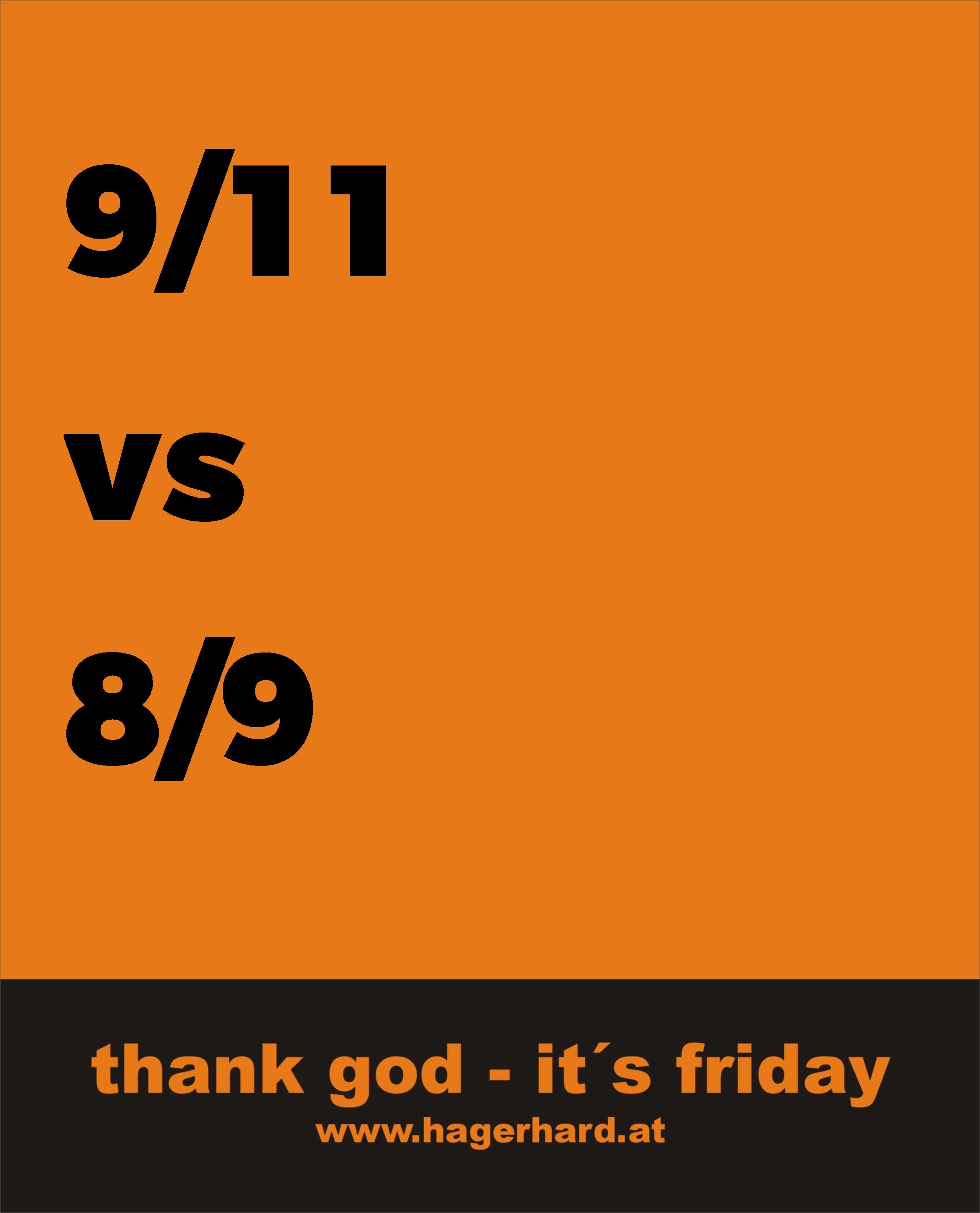 9/11 vs 8/9