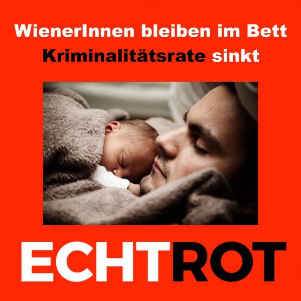 WienerInnen bleiben im Bett - Kriminalitätsrate sinkt