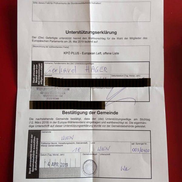 Warum ich eine Unterstützungserklärung für KPÖ Plus unterschrieben habe