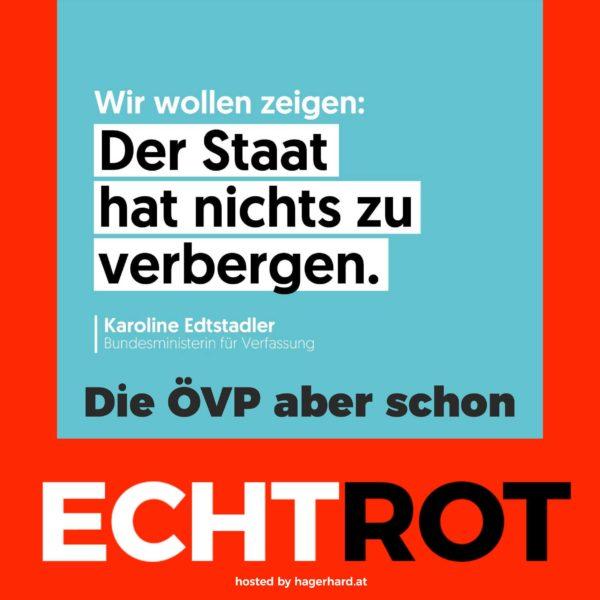 Transparenz - wie die ÖVP sich das vorstellt
