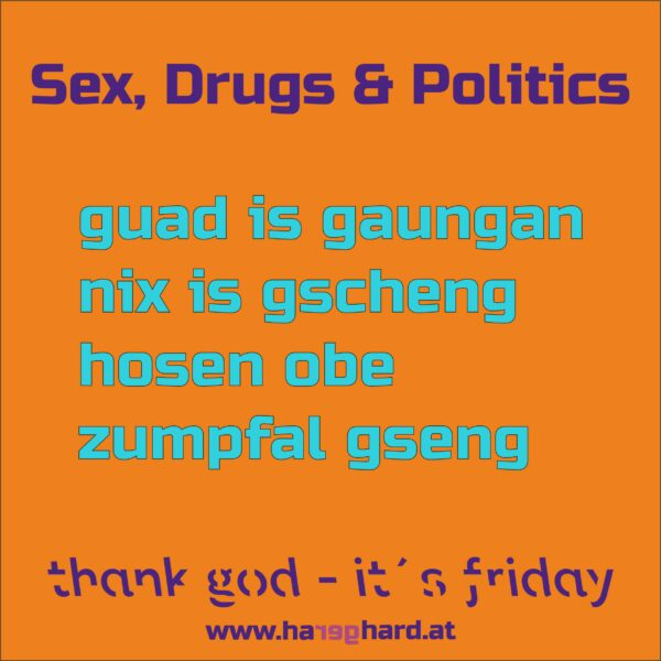 Sex, Drugs & Politics