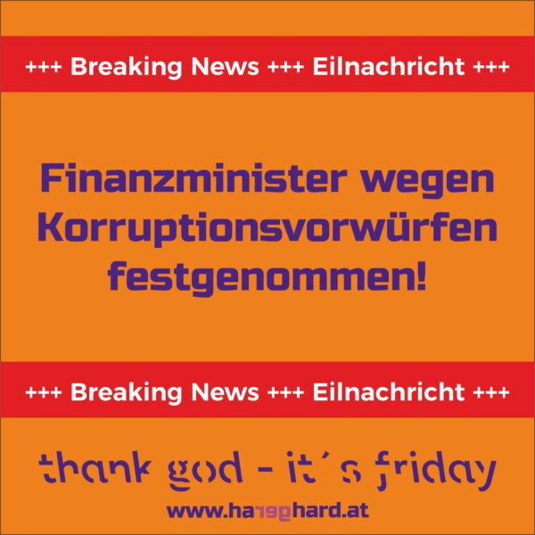 Finanzminister wegen Korruptionsvorwürfen festgenommen!