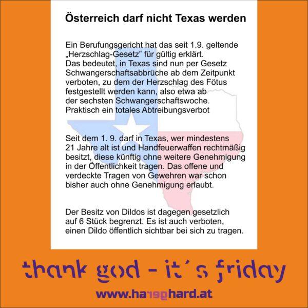 Österreich darf nicht Texas werden